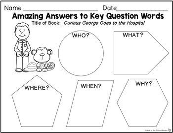 Curious George Goes to the Hospital Activities