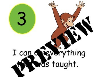 Curious George Learning Scale