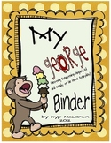 Curious George Organizational Binder