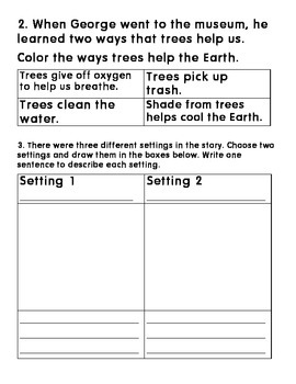 Curious George Plants a Tree- Focus on Cause and Effect and setting