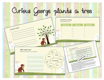 Curious George Plants a Tree- Language Activities for Earth Day