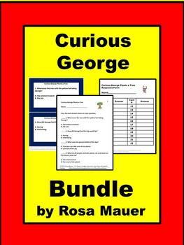 Curious George Reading Comprehension Book Unit Bundle