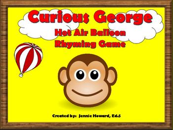 Curious George Rhyming Game