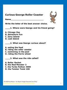 Curious George Roller Coaster Book Unit