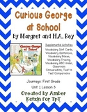 Curious George at School Activities 1st Grade Journeys Unit 1, Lesson 3