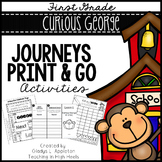Curious George at School - Journeys First Grade Print and Go Activities