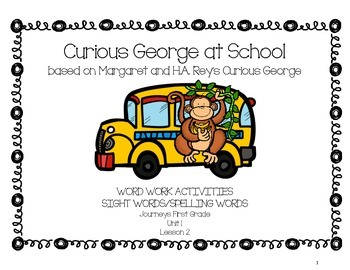 Curious George at School - Journeys First Grade Word Work Pack