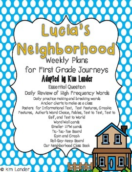 Lucia's Neighborhood Weekly Plans and Support Materials