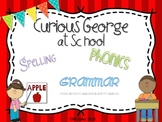 Curious George at School {spelling, grammar, and phonics practice}