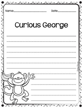Curious George goes to School - Activities