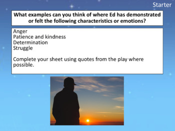 The Curious Incident (play) - lesson analyzing Ed