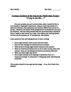 Curious Incident of the Dog in the Nighttime Project