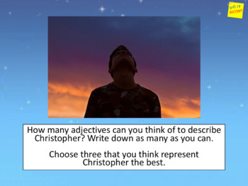 Curious Incident (play) - how is Christopher presented at the start of the play?