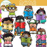 Curious Kids Reading Clip Art