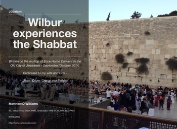 Curious Wilbur shares a shabbat with his mate!