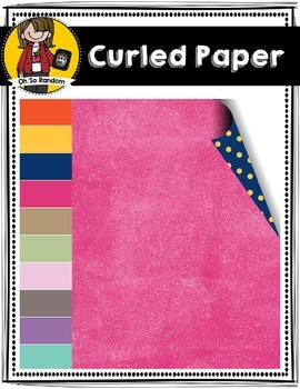 Curled Corner Digital Paper  | CU