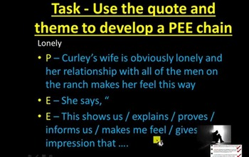 Curley's Wife PEEs paragraphs - Of Mice and Men