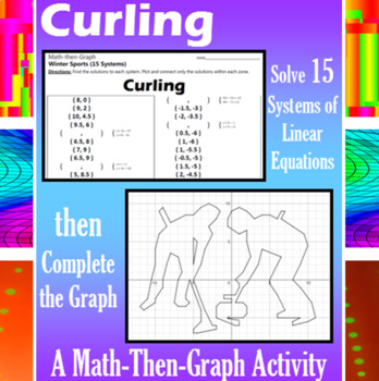 Curling - 15 Systems & Coordinate Graphing Activity