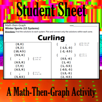 Curling - A Math-Then-Graph Activity - Solve 15 Systems