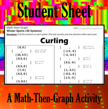 Curling - A Math-Then-Graph Activity - Solve 30 Systems
