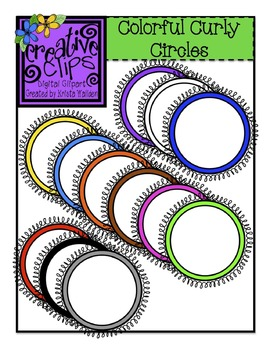 Curly Circle Labels/Frames {Creative Clips Digital Clipart}