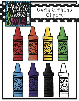 Curly Crayons Clip art