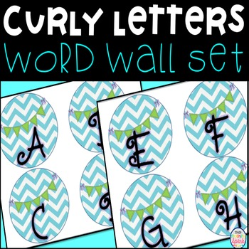 Chevron Curly Cute Word Wall Labels