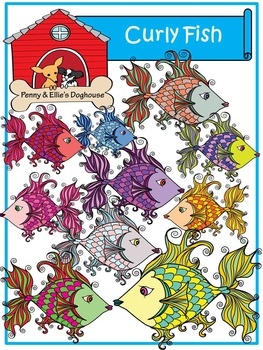 Curly Fish *Penny & Ellie's Doghouse Clipart*