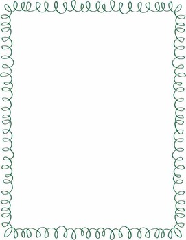 Multi-Colored Curly Frames/Borders {Personal or Commercial Use}