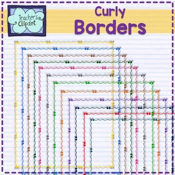 Curly Frames - borders Clip art