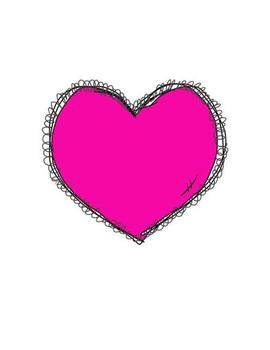Curly Hearts Clip Art