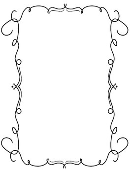 Curly Q & Loopty-Loo Black and White Borders and Frames