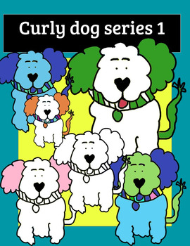 Curly hair dog clip art colors and fun puppy teachers