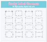 Curly label frames SVG clipart - Label frames svg - Frames