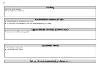 Currciulum Event Proposal Form