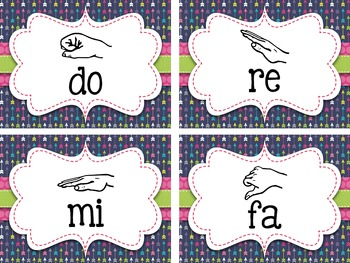 Curwen Hand Signs Posters and Word Wall Cards {Arrows}