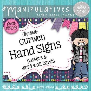 Curwen Solfege Hand Signs Posters and Word Wall Cards {Arrows}