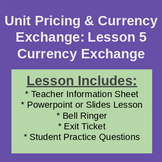 Currency Conversion - Classroom Notes & Activities (Workplace Math 10)