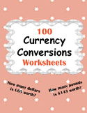 Currency Conversions Worksheets