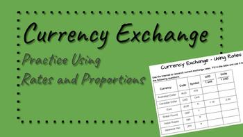 Currency Exchange - Using Rates