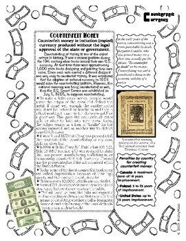 Currency - The History, Production Process, Counterfeiting + Pictures