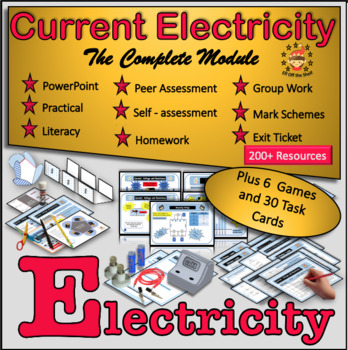 Current Electricity - Complete Middle School Module Plus 6 Games and Task Cards