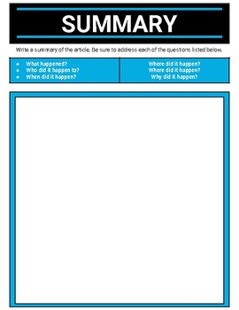Current Evens Graphic Organizer (Editable in Google Slides)