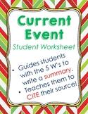 Current Event Student Worksheet