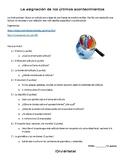 Current Event Activity (Spanish)
