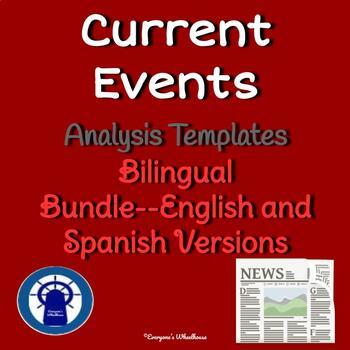 Current Event Analysis Template Bilingual Bundle