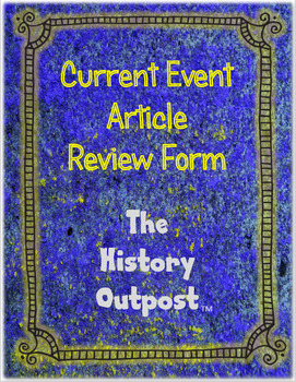 Current Event Article Review Form
