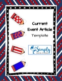Current Event Article Template on Google Forms