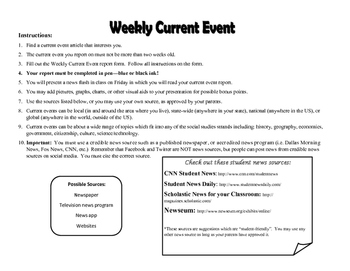 Current Event Assignment