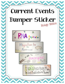 Current Event Bumper Sticker - Biology